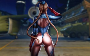 Picture girl, military, games, anime, beautiful, street fighter, illustration, cammy, cammy white