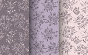 Picture flowers, background, pattern, seamless