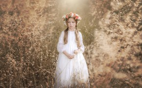 Picture light, nature, girl
