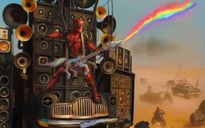 Picture Figure, Music, Guitar, Speakers, Art, Art, Deadpool, Deadpool, Fury Road, Mad Max: Fury Road, Andy …