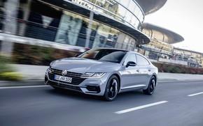 Picture grey, movement, coupe, Volkswagen, liftback, 2020, Arteon, 4Motion, R-Line Edition