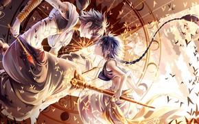 Picture yellow, art, fight, boys, anime Wallpapers, japaese, anime boys, animemanga