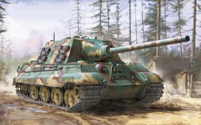 Picture Germany, jason, sau, the Wehrmacht, Hunting tiger, Sd.Car.186, Tank fighter, Jagdtiger Sd.Kfz.186 Porsche Production Type