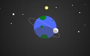 Picture Minimalism, Planet, Space, Earth, Art, NotQuitePhotoshop, by NotQuitePhotoshop, Little Blue