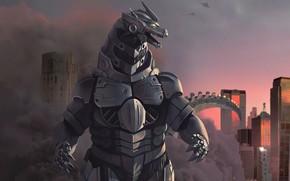 Picture Figure, Monster, Background, Godzilla, Art, Art, Godzilla, Gull, Creatures, by Naram Sinha, Naram Sinha, Mechagodzilla …