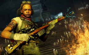 Picture girl, weapons, candles, Zombie Army 4: Dead War