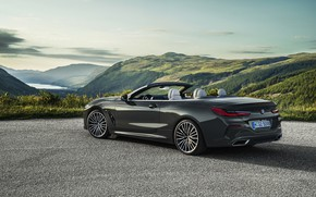 Picture BMW, back, convertible, side view, xDrive, G14, 8-series, 2019, Eight, M850i Convertible