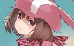 Picture look, girl, cap, Sword Art Online Alternative: Gun Gale Online