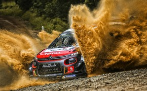 Picture Auto, Sport, Machine, Race, Citroen, Puddle, Citroen, Squirt, Car, WRC, Rally, Rally, Citroen С3, CITROEN ...
