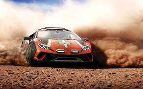 Picture Lamborghini, concept, sports car, Huracan, Dirt