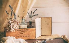 Picture box, Mac, lavender, hydrangea