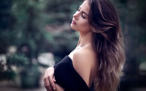 Picture pose, hair, Girl, shoulder, Vanya Tufkova