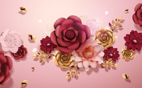 Picture flowers, background, pink, texture, flovers