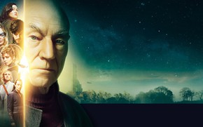 Picture night, characters, starry sky, Star Trek Picard