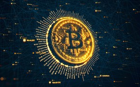 Picture background, render, fon, bitcoin, bitcoin, btc
