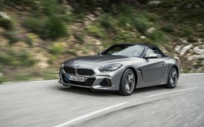 Picture road, roof, grey, speed, BMW, Roadster, BMW Z4, M40i, Z4, the soft top, 2019, G29