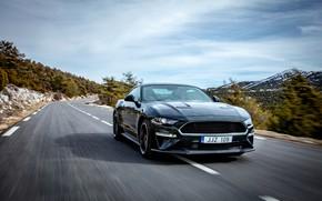 Picture the sky, Mustang, Ford, plants, 2018, Bullitt, fastback
