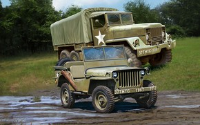 Wallpaper jeep, truck, Off Road Vehicle, M34 Tactical Truck