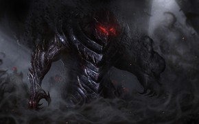 Picture Monster, The demon, Darkness, Art, Art, Fiction, Illustration, Concept Art, Demon, Characters, Vladyslav Kutuzov, by …