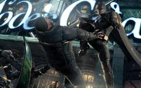 Picture The game, Battle, Batman, Costume, Fight, Hero, Cloak, Superhero, Hero, Blow, Batman, Shield, Game, Bruce …