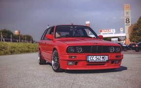 Picture BMW, Germany, E30, RED, Touring, Wagon, Old School