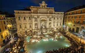 Picture Rome, Italy, the Trevi fountain