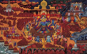 Picture movement, people, God, image, legend, religion, icon, Tibet, the universe, Holy