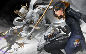 Picture the game, art, art, Warframe