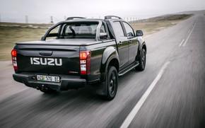 Picture movement, black, pickup, 2018, feed, Isuzu, D-Max, KB 250 X-Rider Black, Isuzu KB