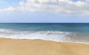 Picture sand, sea, wave, beach, summer, the sky, summer, beach, sea, blue, seascape, sand, wave