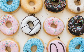 Picture donuts, dessert, cakes, glaze, donuts