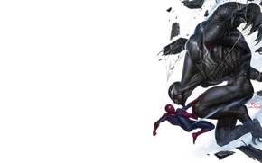 Picture Minimalism, Figure, Art, Art, Illustration, Venom, Spider Man, Characters, MARVEL Comics, Comic Art, MARVEL Art, …