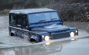Picture water, prototype, Land Rover, Defender, 2013, All-terrain Electric Research Vehicle