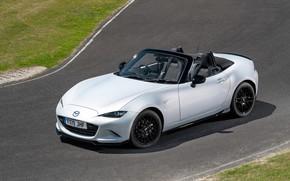 Picture photo, White, Convertible, Mazda, Car, MX-5, 2019, Design Pack