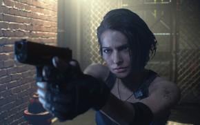 Picture Girl, Gun, Wall, The door, Jill Valentine, Jill Valentine, Grille, Resident Evil 3, Resident Evil …