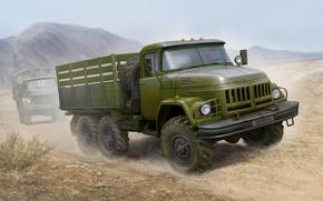 Picture art, truck, ZIL-131