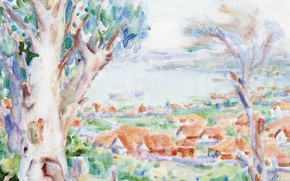 Picture landscape, figure, picture, watercolor, John Peter Russell, John Peter Russell, The Bay Of Roses. Sydney