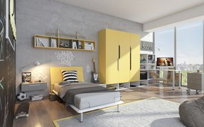 Picture design, interior, living room