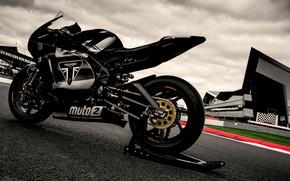 Picture road, track, triumph, motocycle, triumph daytona 765