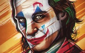 Picture smile, art, Joker, art, Joker, poster, Joaquin Phoenix, Joaquin Phoenix, Joker 2019, Joker 2019
