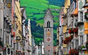 Picture tower, home, Alps, Italy, Vipiteno