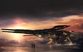 Picture The sky, Ship, The ship, Art, Fiction, Concept Art, Science Fiction, Transport & Vehicles, Eddie …