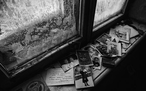Picture retro, window, photos, sill