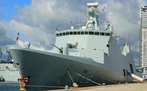 Picture pier, frigate, Denmark, Navy