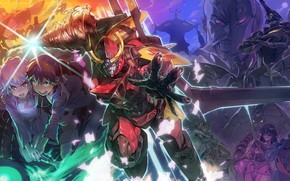 Picture anime, art, characters, Distributed By Mattel And Nintendo Violence Gurren-Lagann