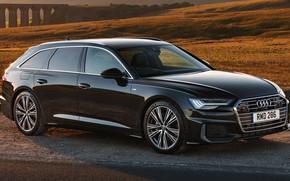 Picture car, machine, Audi, hills, Audi, black, black, side, universal, Audi A6, S line, Audi A6 …