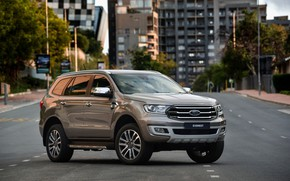 Picture road, the city, street, Ford, Everest, Limited, 4WD, 2019