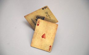 Picture card, casino, 2 aces