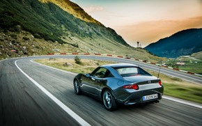 Picture road, Mazda, Targa, 2019, dark gray, MX-5 RF