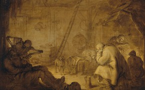 Picture oil, picture, 1632, Адриан ван де Венне, Adriaen van de Venne, Конец несчастьям